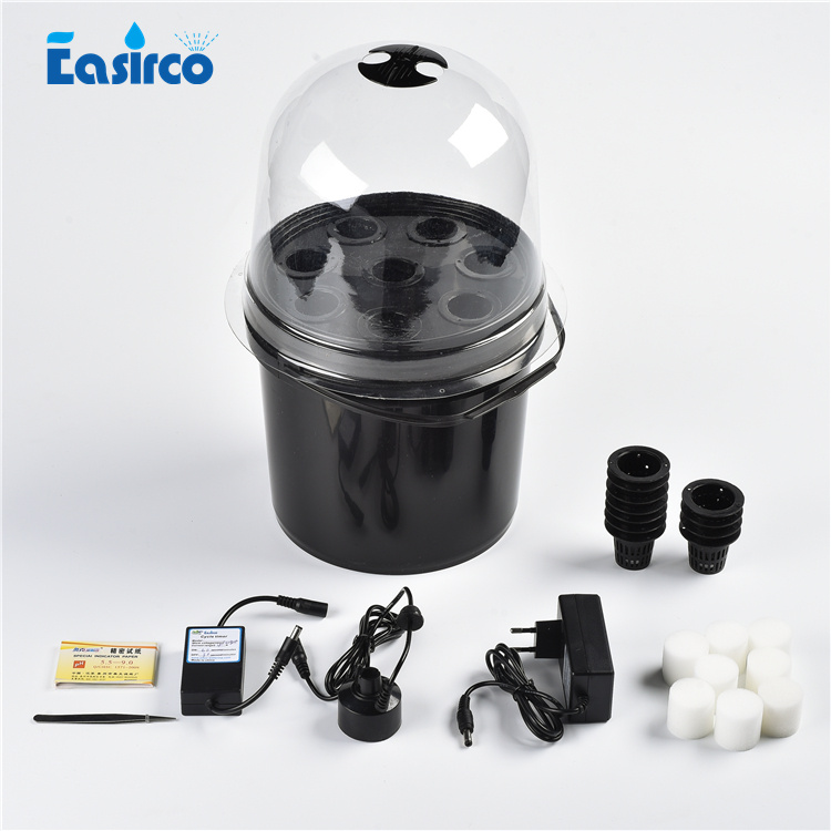 8 Net Cup Mist Propagator Aeroponic Bucket With Cycle Timer Nursery Pot .soilless Culture, Free Shipping