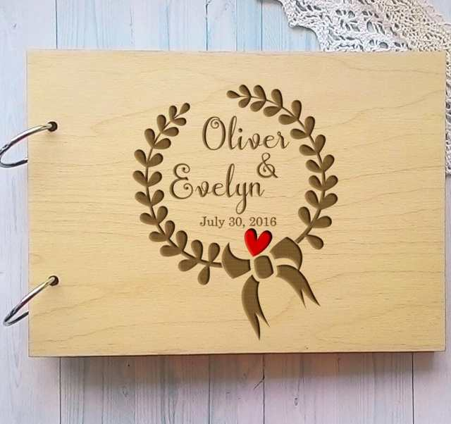 Personalized Wedding Guest Book.Wooden Personalized Wedding Guest Book Alternative Unique Wreath Wedding Guestbook Custom Name Sign Book Rustic Wedding Decor