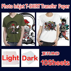 T-Shirt Clothing Photo-Paper Transfer Inkjet Or A4 Dark Light-Color 10-Sheets/Pack