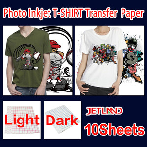 A4 inkjet heat transfer paper T-shirt transfer photo paper for dark or light color clothing 10 sheets/pack free shipping