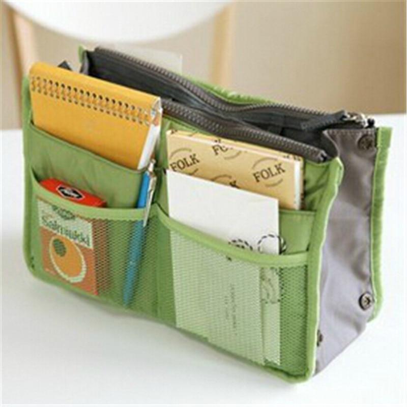 Large Storage Bags Hot Women Purse Handbag Organizer Travel Bag Insert Liner Cosmetic Maleta De Maquiagem Free Shipping In Cases From