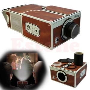 Image 2 - 送料無料ポータブル段ボールスマートフォンプロジェクター 2.0/組立電話プロジェクターシネマドロップ無料