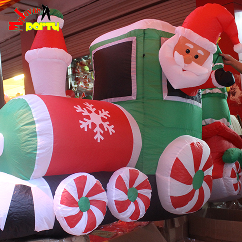 highest quality 8 ft 24m christmas led lighted inflatable train blow up airblow yard decoration in christmas from home garden on aliexpresscom - Blow Up Christmas Decorations