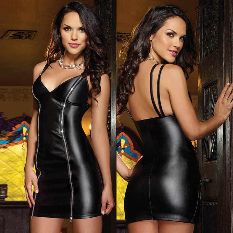67d16a5fa5c 2018 New Sexy Lingerie Catsuit Spandex Latex Erotic Pole Costume Plus Size  Erotic Maxi Dress Women