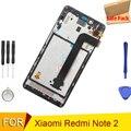 100% testado para xiaomi redmi note 2 prime display lcd assembléia tela de toque digitador + moldura para redmi nota