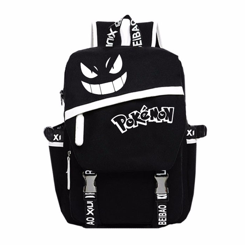 Anime Color Glow In the Dark School Backpack Bag Gengar Face Laptop Backpack Black Gift Day Bag mary pope osborne magic tree house 39 dark day in the deep sea