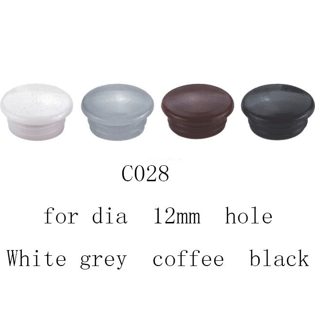 8mm Coffee White Black Furniture Drilling Hole Plug Cupboard Screw Plastic Cover Cap Insert Dark Brown End Pannel Furniture