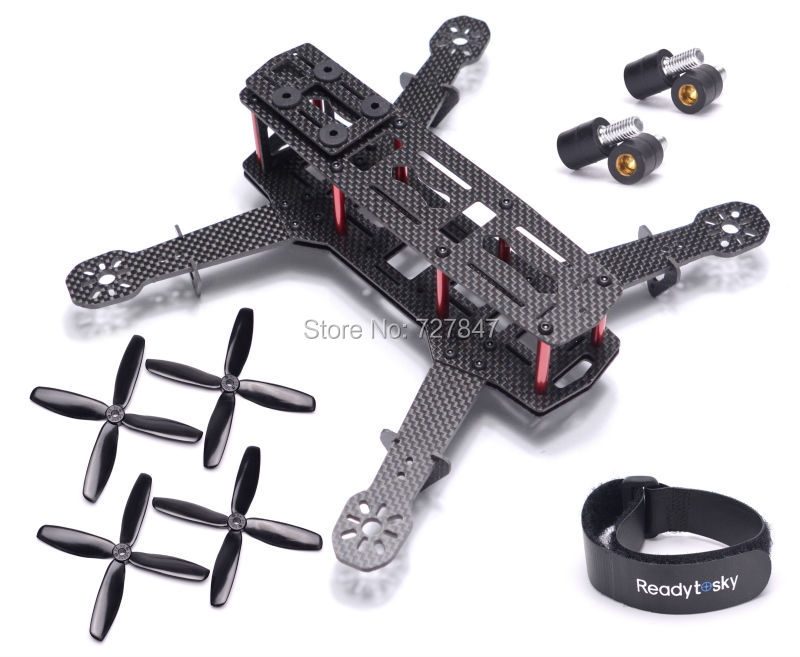 NEW  ZMR250 Carbon Fiber 250mm Mini Quadcopter Frame w/ Anti-Vibration Fixed Screws 5045 4 blade propeller for QAV250 H250 250mm zmr250 250mm carbon fiber 4 axis 250 mm fpv quadcopter mini h quad frame for qav250
