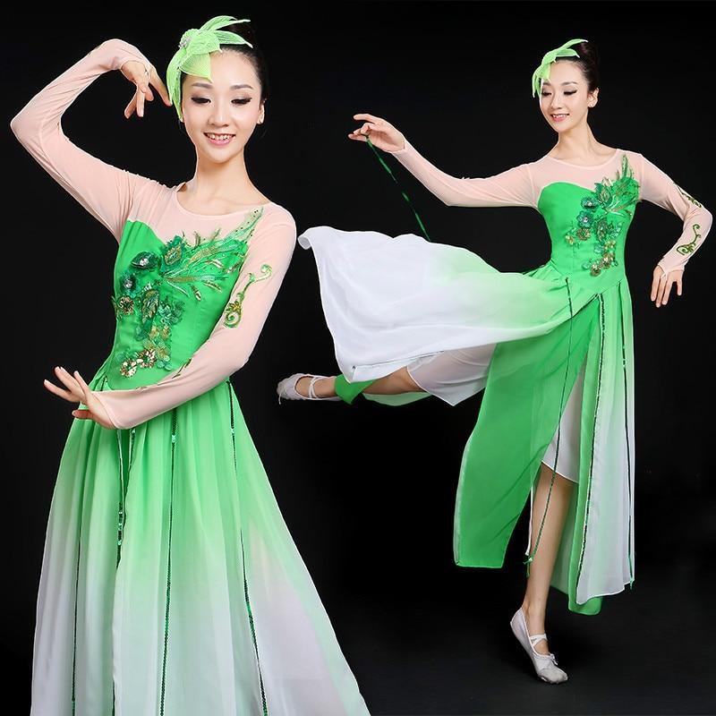 dc2262a06 New Chinese Folk Dance Costumes Rhinestone Poetic Jiangnan Rainy ...