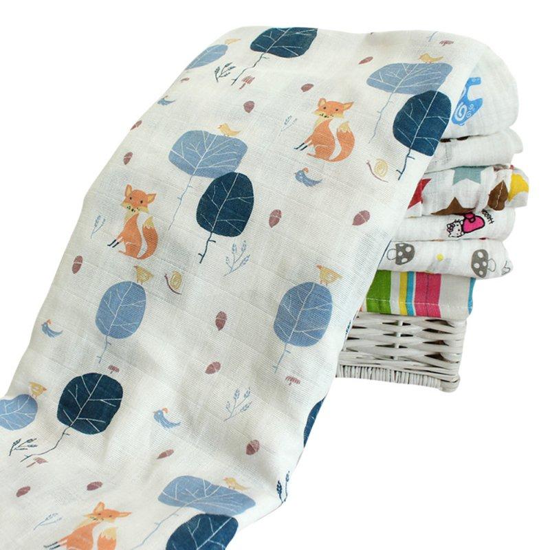 Baby Bedding Newborn Infant Cotton Comfortable Muslin Blanket & Swaddling Towel 120*120cm Envelope Mat baby Swaddle Supplies
