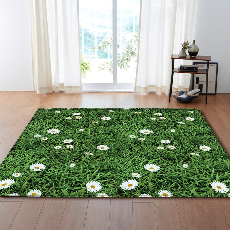 Hot Sale Modern Style 3D Carpet Large Size Living Room Bedroom Tea Table Rug And Carpet Rectangular Antiskid Floor Mat  Kh001