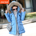Plus Size Hot sales Women coat Winter 2016 New Lady Cotton-Padded Jackets Female  Fur collar Clothing Parkas coats Long M16