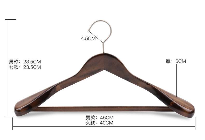 518ba268469d US $38.99  4pcs/lot Adult Solid Wood Suit Hangers For Clothes Pegs Vintage  Hotel Hangers Wooden Household hanger-in Hangers & Racks from Home & Garden  ...
