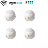 NEO Coolcam 4pcs Lot Smart WiFi PIR Motion Sensor Work With Amazon Alexa Goole Assistant IFTTT