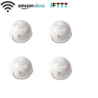 NEO Coolcam 4pcs Lot Smart WiFi PIR Motion Sensor Work With Amazon Alexa Goole Assistant IFTTT