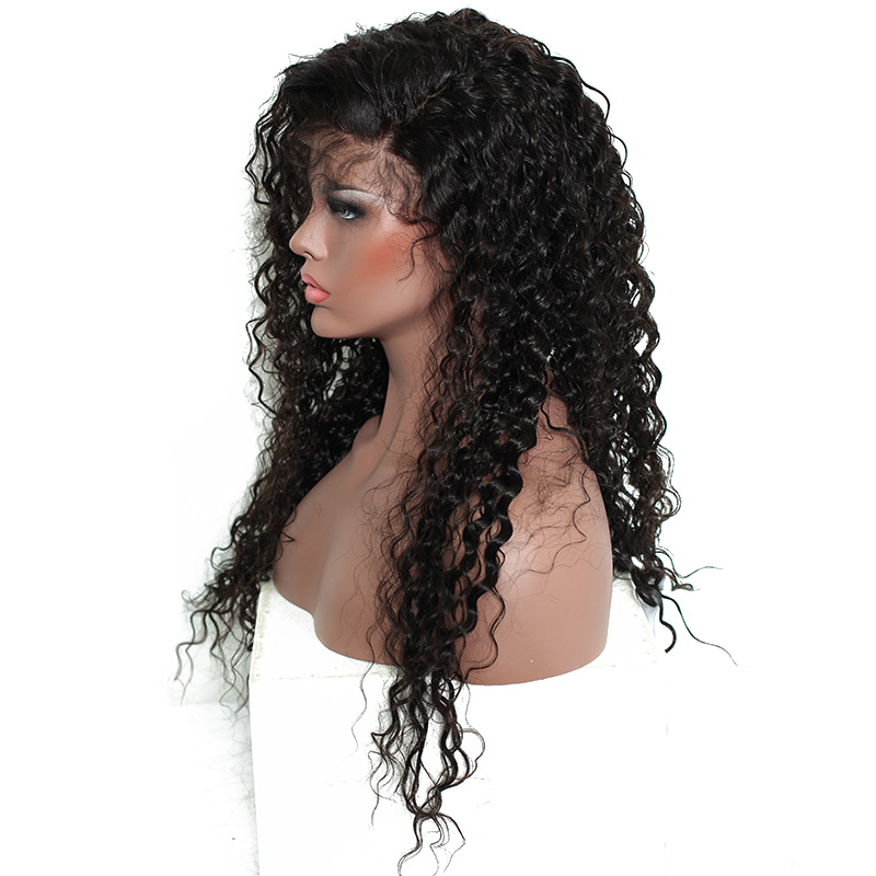 Lace Front Human Hair Wigs For Women Natural Black Pre Plucked 250% Density Brazilian Pictured 24inches 5