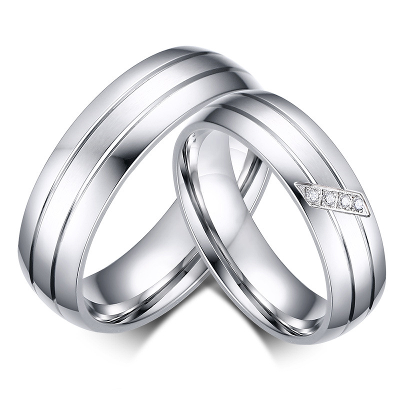 6mm Wide Mens Womens Silver Anium Rings For Wedding Band Promise Ring Sets Alianza De Plata Alliance Anel In From Jewelry