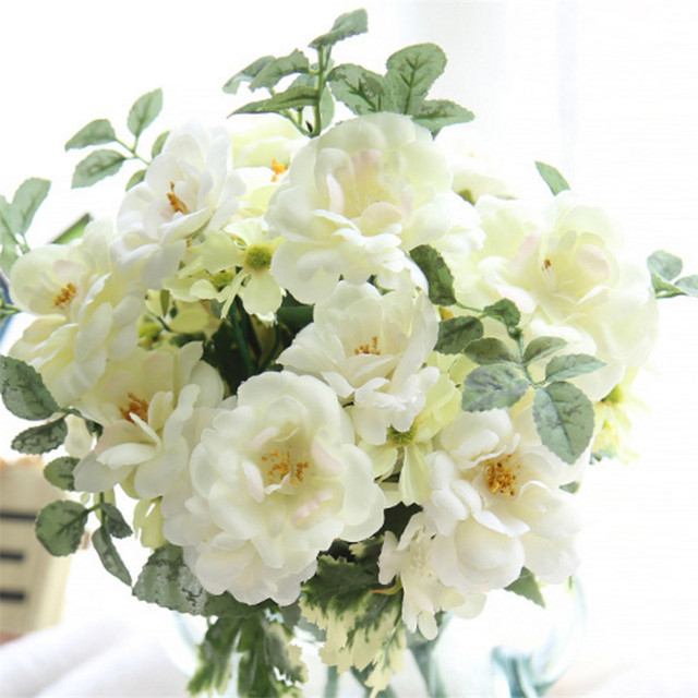The Bouquet Of White Camellia Flowers Home Garden Indoor Brand Pink