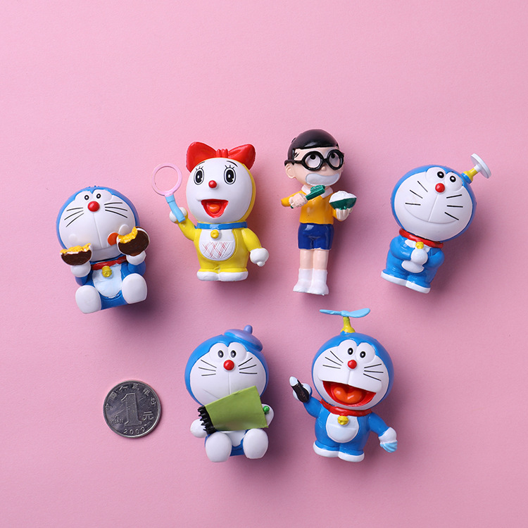 CUTEHORSE 6pcs/set cartoon creative doraemon is tinted with A magnet on the refrigerator