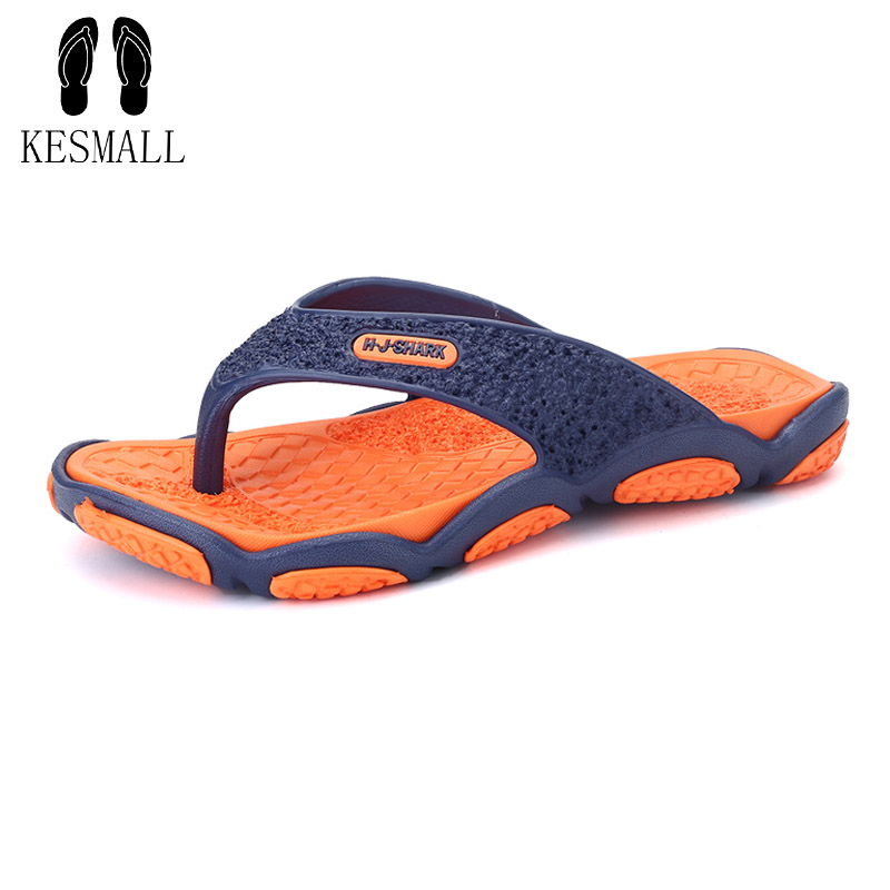 где купить KESMAL 2017 Summer Men Designer Flip Flops Men's Casual Sandals Fashion Slippers Breathable Beach Shoes Hot Sales Slippers WS51 дешево