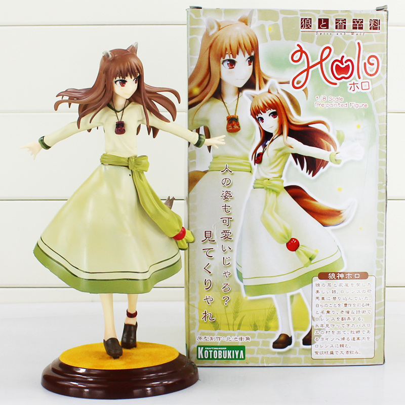 Japanese Anime Figures Spice And Wolf Horo PVC Action Figure Toy Collection Medel Toy anime one piece dracula mihawk model garage kit pvc action figure classic collection toy doll