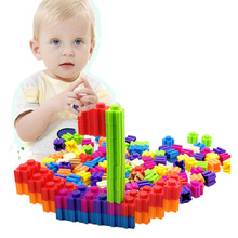 Creative Model Building Blocks Children Creative Building Blocks Toys Colorful Building Blocks Kids Stacked Learning Educational 100pcs colorful wooded cube building blocks early educational blocks set for kids play intelligence toys