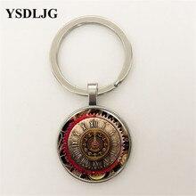 Vintage Compass Clock Cabochon Tibetan silver Glass Chain Pendant Necklace Jewelry gift Glass Chain стоимость