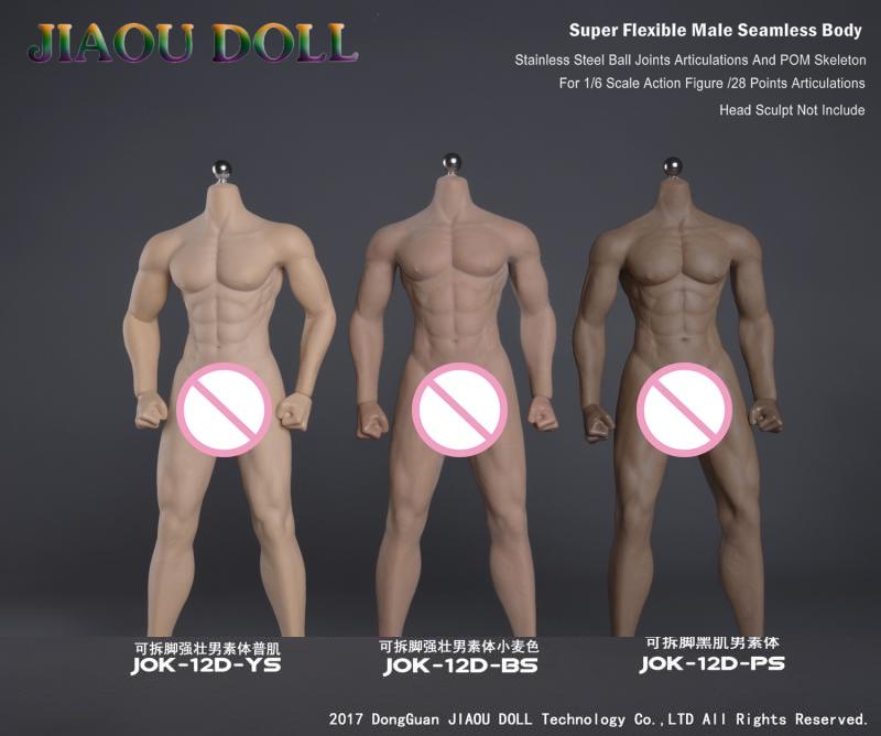 JIAOU DOLL 1//6 Strong Male Body Model Natural Skin Seamless Figure JOK-12D-YS