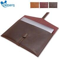 Deparq For macbook pro air 13 case original retro Genuine cow Leather bag for macbook sleeve air 13 15.6 inch laptop bag
