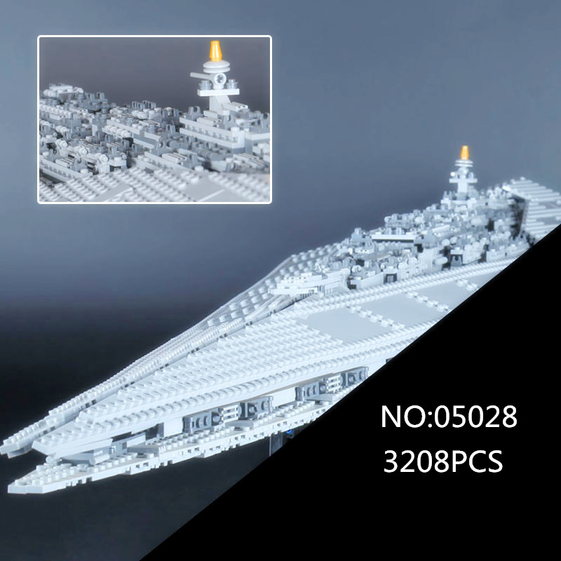 05028 Star Execytor Super Star set Destroyer Model Educational Building Kit Block Brick Compatible 10221 War Toy 05028 star wars execytor super star destroyer model building kit mini block brick toy gift compatible 75055 tos lepin