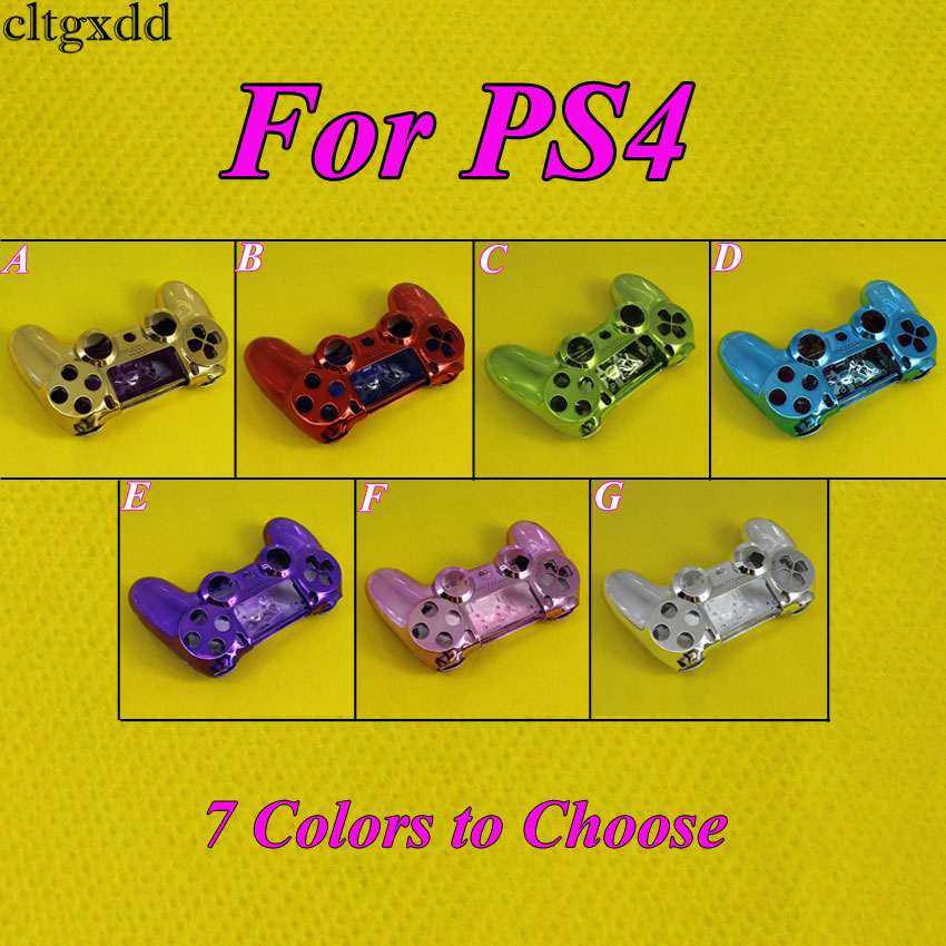 cltgxdd Wireless Game Chrome Controller Gamepad Shell For PS4 Wireless Controller-Pack of 7 Colors
