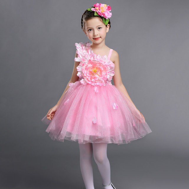 Yellow White Pink Pageant Flower Girls Short Ball Gown Prom Dresses ...