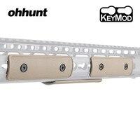 Tactische ohhunt 4 inch Polymeer Keymod Rail Panel Handguard Cover Pack van 3 stuks Sleutel Mod Jacht Accessoire Zwart Tan Legergroen|Bereik montuur & Accessoires|   -