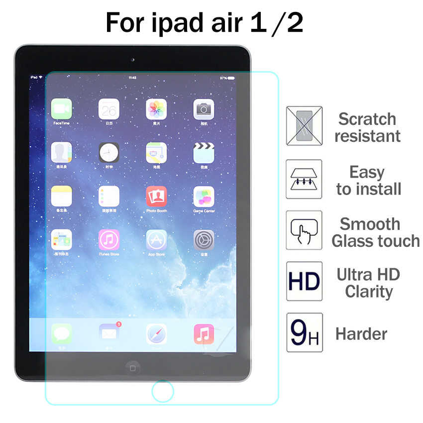 Real Hard HD Tempered Glass Temper Glass Screen Protector For Apple Ipad Air