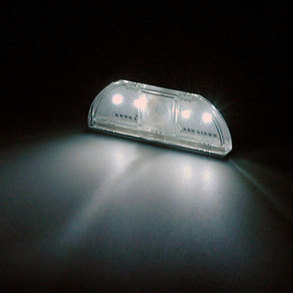 LightInBox 4Leds Led Sensor Motion Lamp Night Light Motion Sensor Detector LED Light Lamp Silver For 1*AA battery