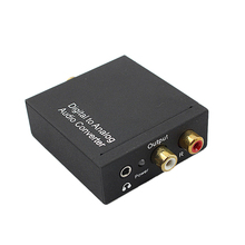 Analog R/L RCA Converter With 3.5mm Jack With EU Plug Adapter Coaxial Optical Toslink Digital to Analog Audio Amplifiers For DVD