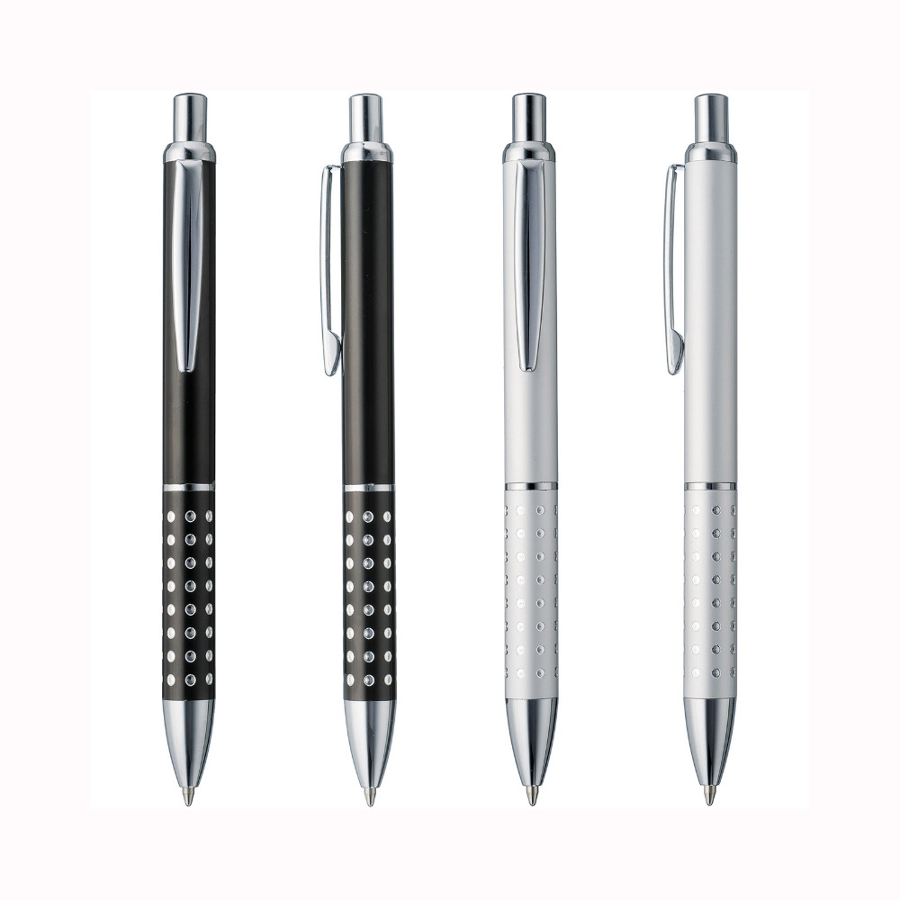 Image 3 - Lot 50pcs Cheap Metal Ball Pen,Aluminium Dot Grasp,Free Laser Engraved Company Logo&Text,Customized Promotional Event Gift-in Banner Pens from Office & School Supplies