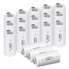 2-20Pieces Anmas Power 1.2V 1300mAh Ni-CD Sub C SC Battery White with Tab Rechargeable Batteries