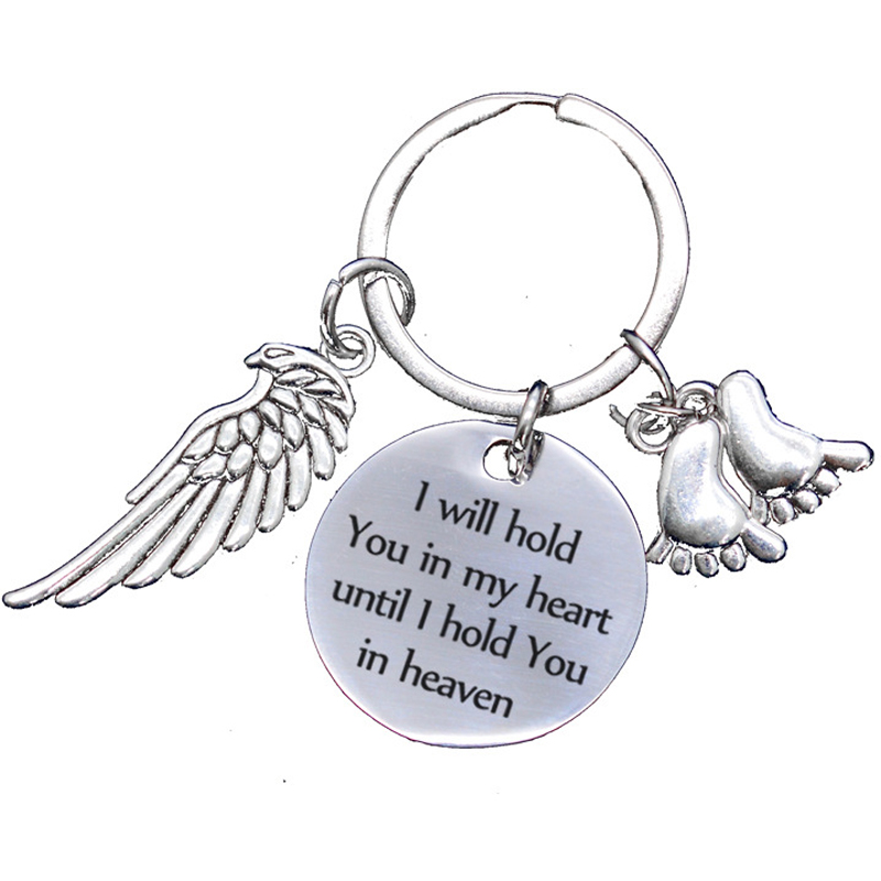 Quotes I Will Hold You In My Heart Until I hold you in Heaven Keyring Gift 6A