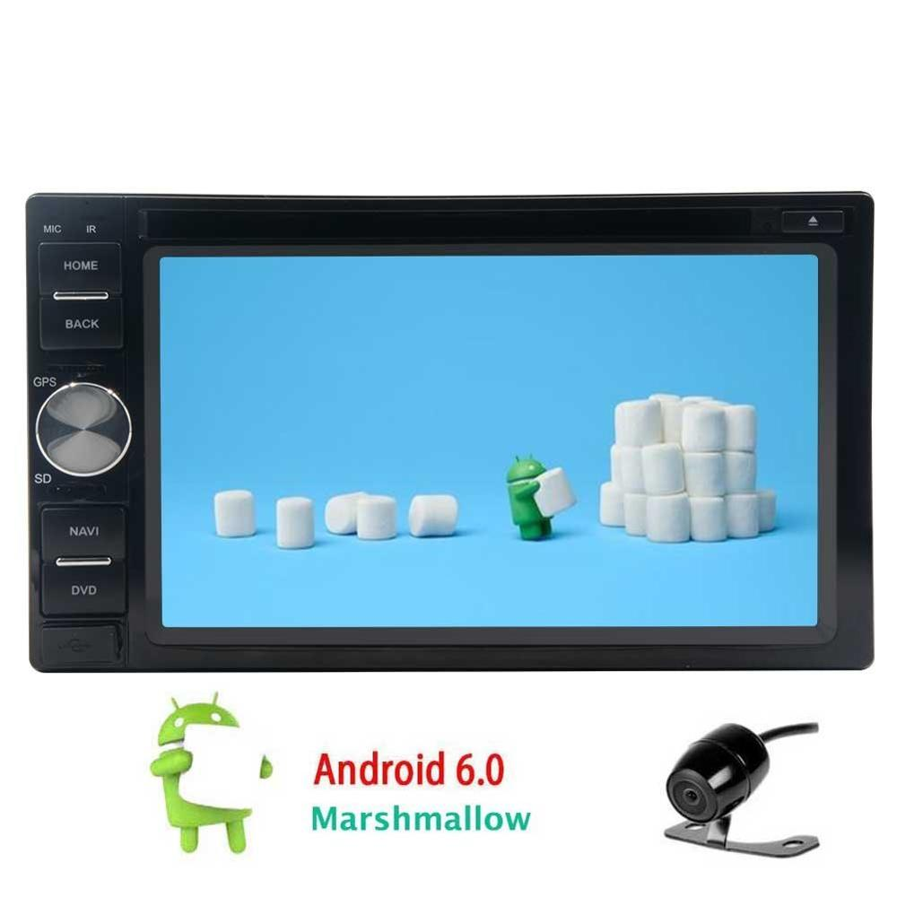 Double 2Din Android 6.0 Car DVD Player tape recorder GPS din Car Stereo with GPS NavigationVehicle Radio Mirrorlink 1080P+Camera