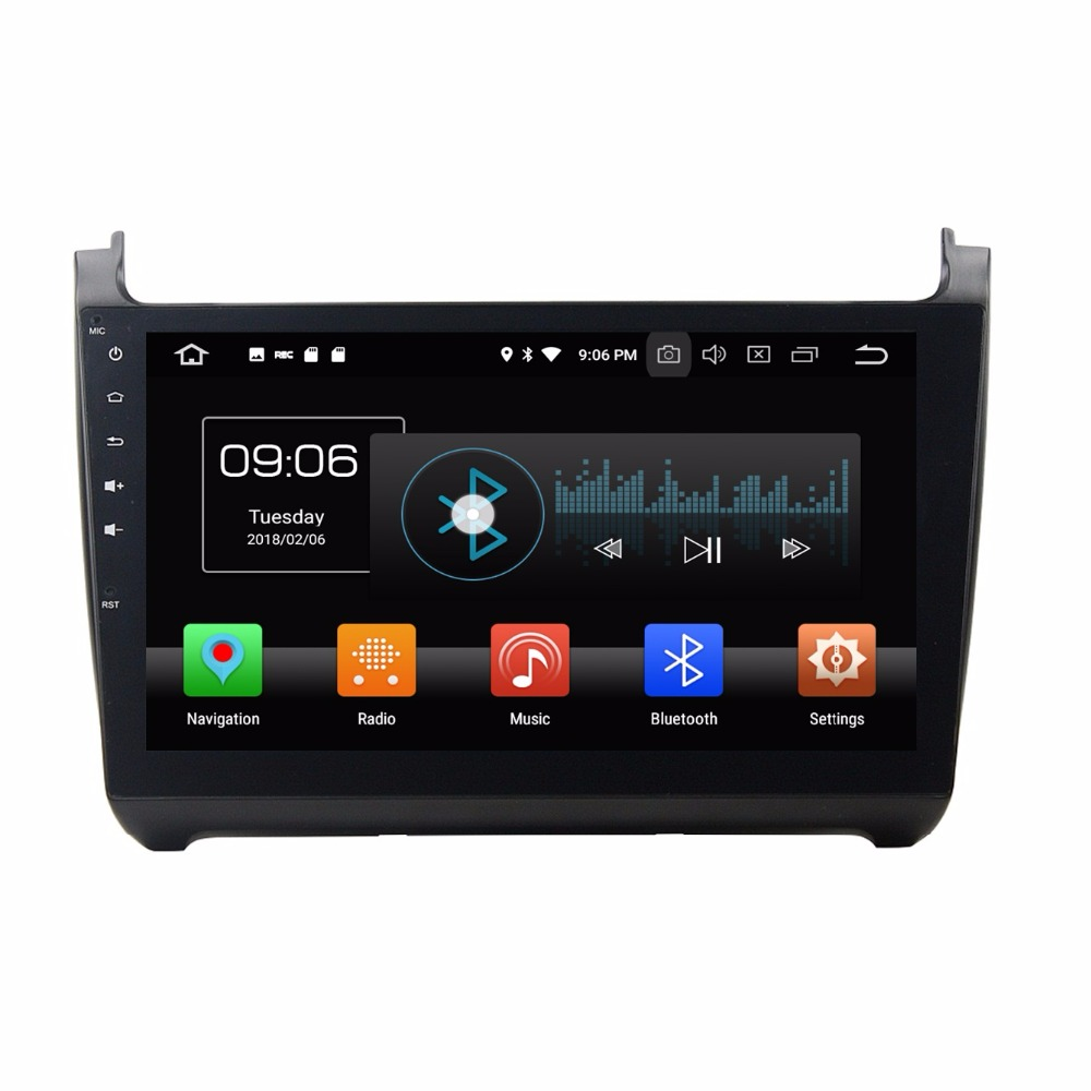 Octa Core 2 din 10.1 Android 8.0 Car Radio DVD GPS for VW Volkswagen Polo With 4GB RAM Bluetooth 32GB ROM USB Mirror link