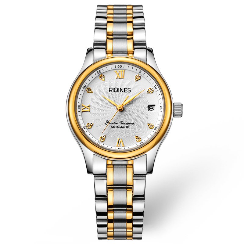RIQINES master collection authentic ladies business automatic mechanical watch fashion waterproof watch whirlwind dial whirlwind