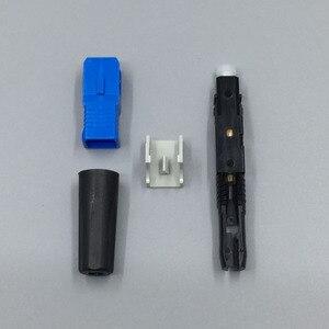 Image 4 - 100 pièces SC UPC fibre optique connecteur rapide FTTH monomode fibre optique connecteur rapide SC assemblage rapide connecteur