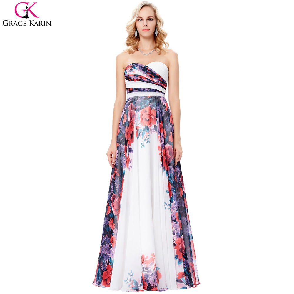 Online get cheap floral evening gown for Night dress for wedding party