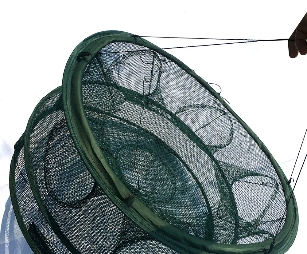 Rede de pesca automática de camarão gaiola