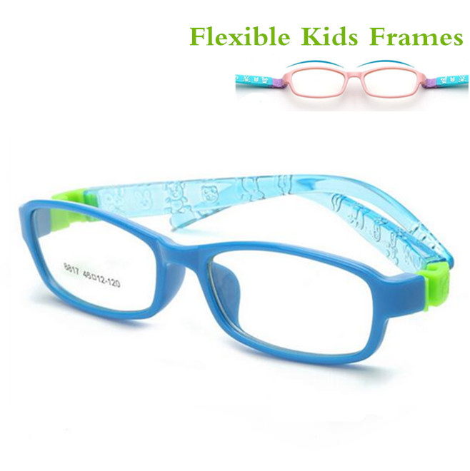 bendable no screw kids frame glasses boy child