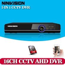 NINIVISION 16CH 1080 P HDMI H.264 Standard HD AHD Vidéo Enregistreur Audio RS485 PTZ CCTV DVR 16 Canaux Pour Analogique AHD Camera IP CAM