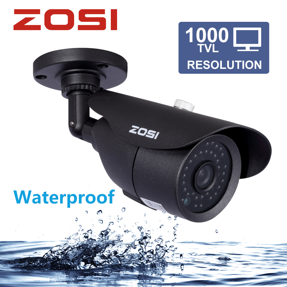 ZOSI HD 960H 1000TVL CMOS 42pcs IR Leds High Resolution Day/night Waterproof Indoor / Outdoor CCTV Camera with Bracket new 800tvl cmos 960h 36pcs ir leds 30 meters day night waterproof surveillance cctv camera with bracket for indoor or outdoor