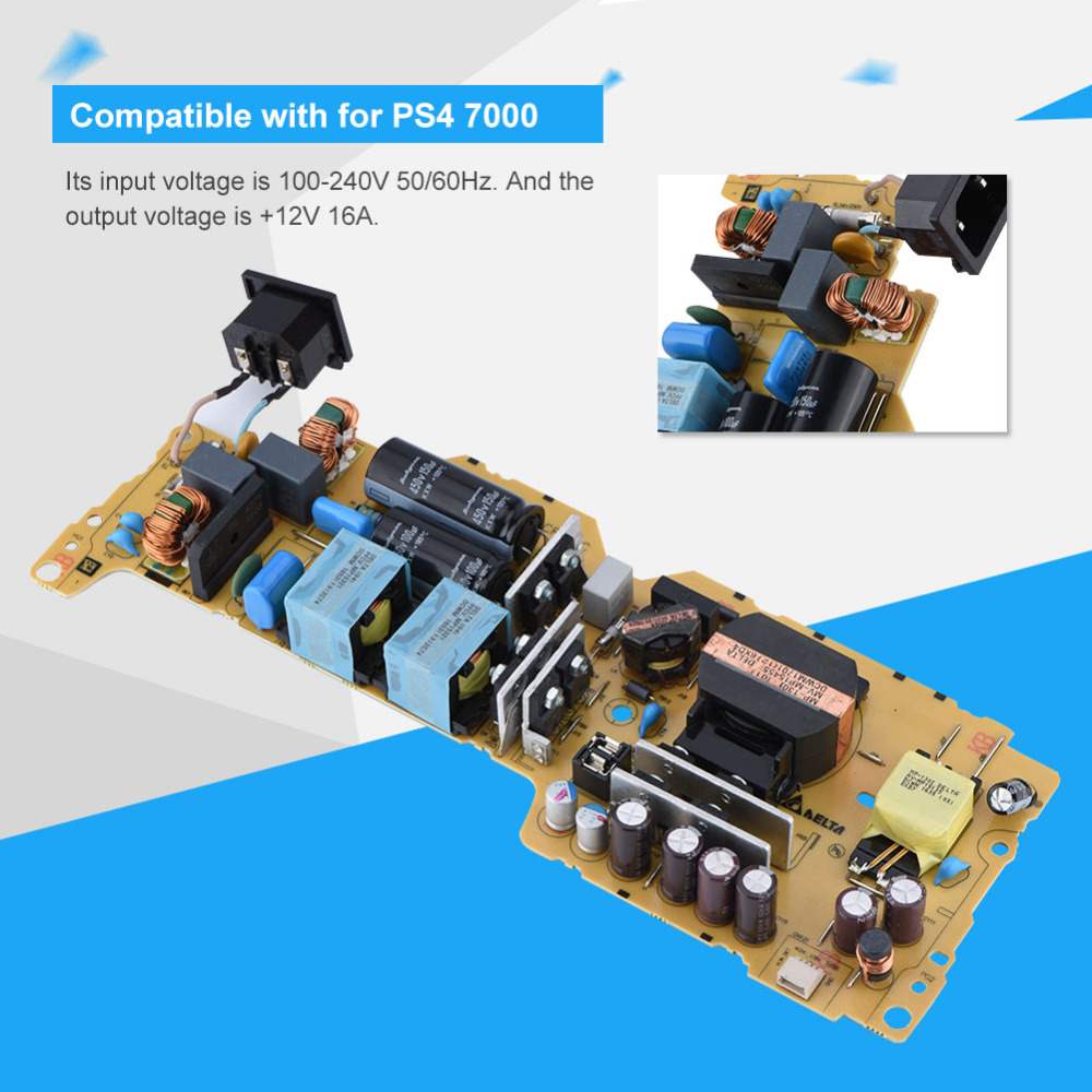 Replacement Original PC Power Supply Board ADP-300CR Power Panel for PS4 7000 alloyseed original game console power supply board adapter adp 300cr for sony playstation 4 ps4 pro cuh 7015b without case shell