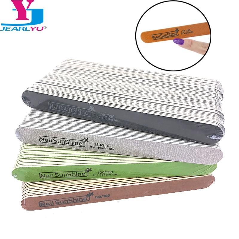 200 Pcs Lot Nail File Kit 100 150 120 180 180 240 240 320 Wood Sanding